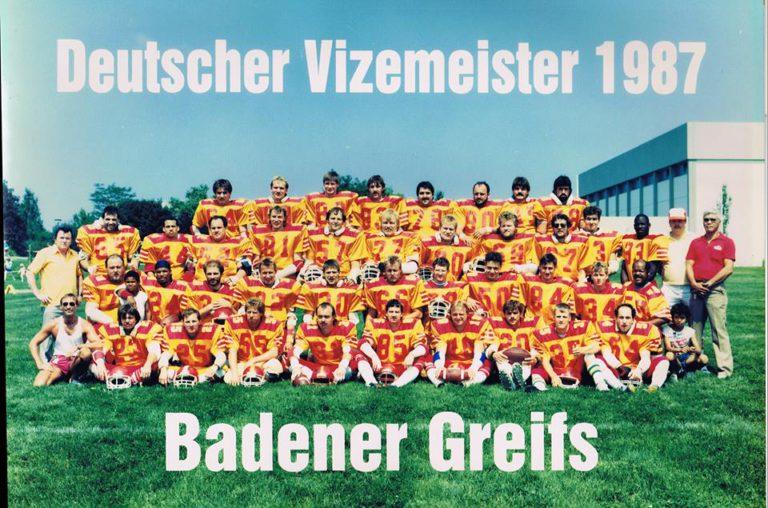 Badener Greifs Seniors 1987